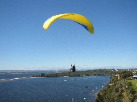 paragliders at contos